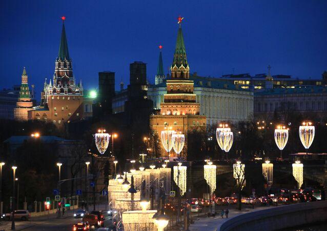 Iluminacje świetlne w Moskwie