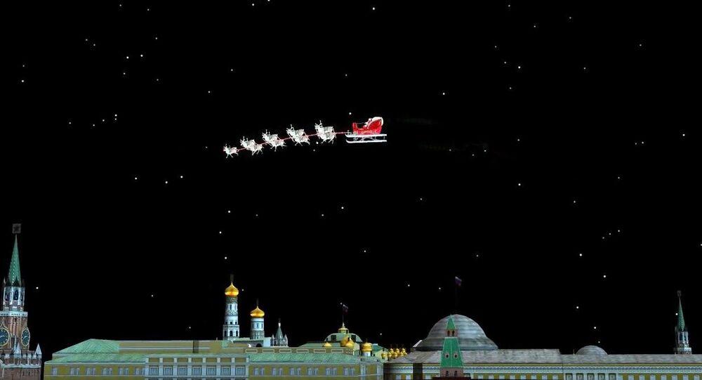 Święty Mikołaj nad Moskwą