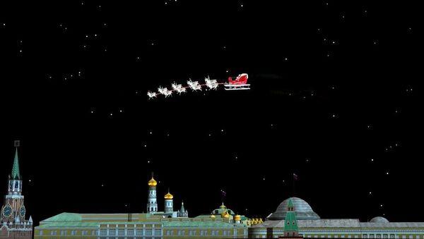 Święty Mikołaj nad Moskwą - Sputnik Polska