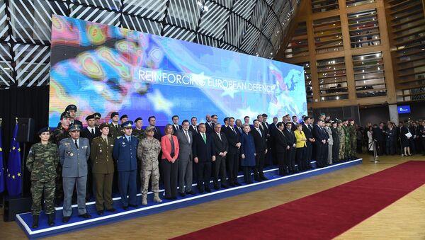 Liderzy państw UE w Brukseli - Sputnik Polska