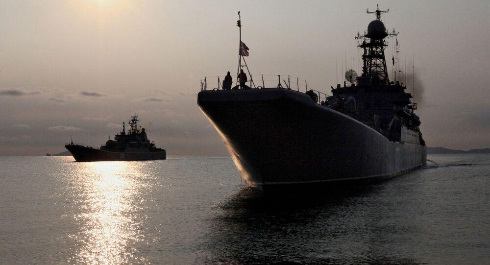 Duże okręty desantowe w Kraju Nadmorskim