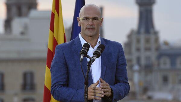 Przedstawiciel ruchu koalicyjnego na rzecz oddzielenia się Katalonii od Hiszpanii - Sputnik Polska