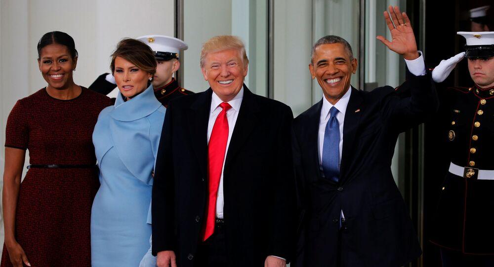 Barack Obama z żoną przed inauguracją Trumpa