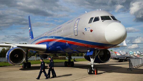 Samolot obserwacyjny Tu-214ON (Otwarte Niebo) - Sputnik Polska