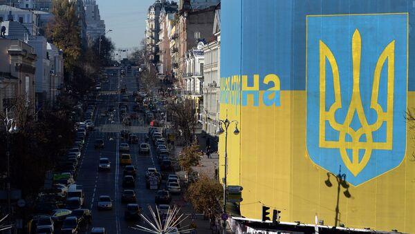 Widok na ulicę Bogdana Chmielnickiego w Kijowie - Sputnik Polska