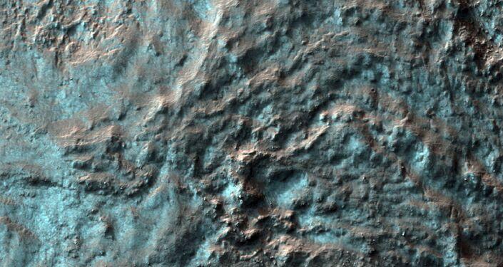 Zdjęcie powierzchni Marsa wykonane przez Mars Reconnaissance Orbiter