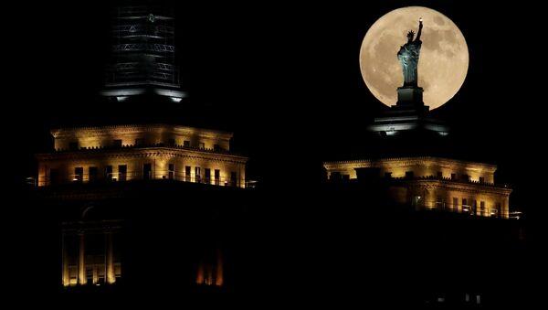 Superksiężyc nad Nowym Jorkiem - Sputnik Polska