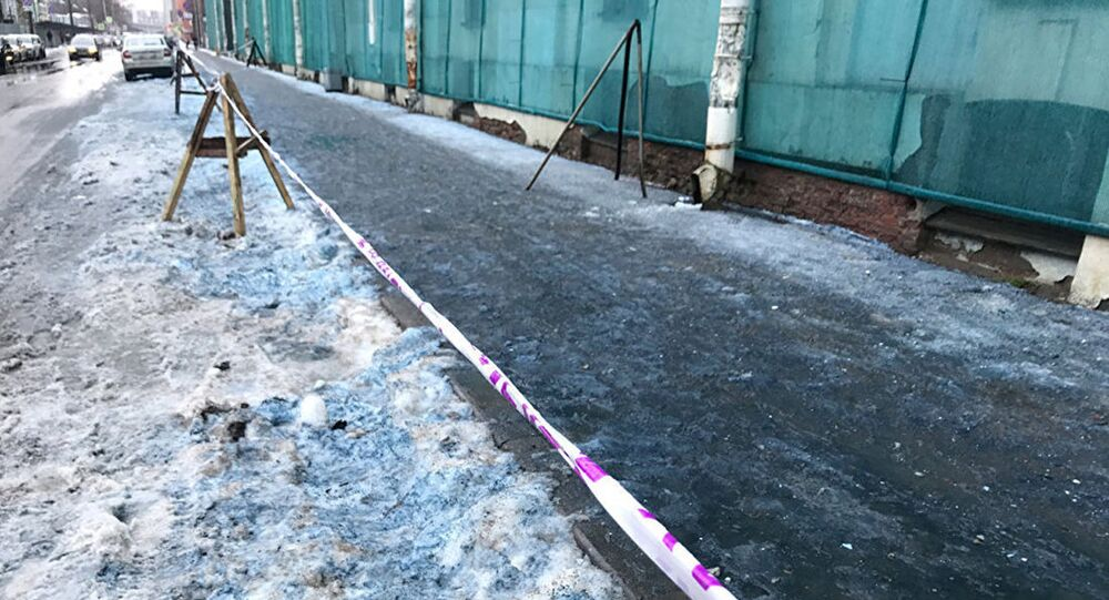 Niebieski śnieg w Petersburgu