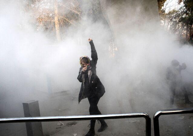 Antyrządowe protesty w Teheranie