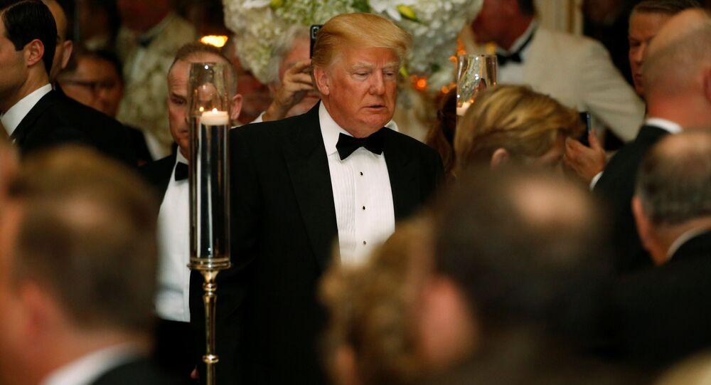 Donald Trump świętuje Nowy Rok na Florydzie