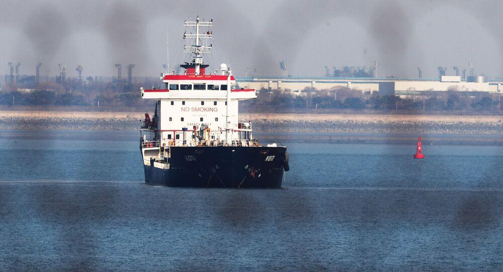 Statek KOTI na wodach Korei Południowej