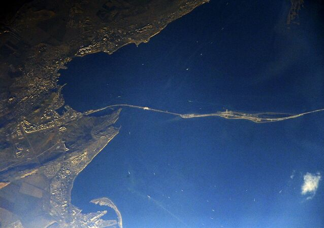 Widok na Most Krymski z kosmosu