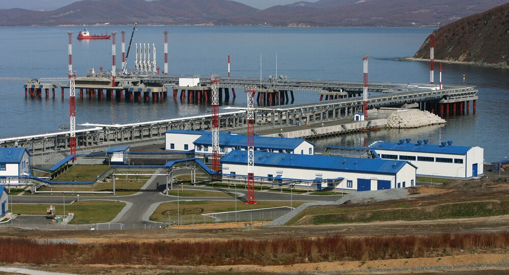 Specjalizowany port naftowy Koźmino w Rosji