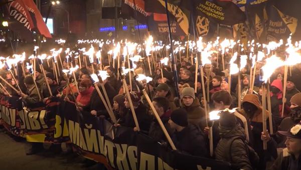 Ukraińscy nacjonaliści uczcili urodziny Stepana Bandery - Sputnik Polska