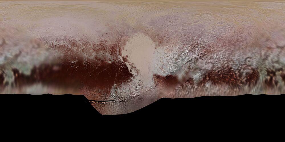 NASA opublikowała pierwszą oficjalną mapę Plutona z nazwami różnych obiektów topograficznych.