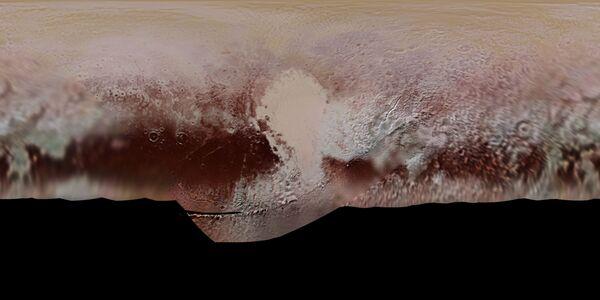 NASA opublikowała pierwszą oficjalną mapę Plutona z nazwami różnych obiektów topograficznych. - Sputnik Polska