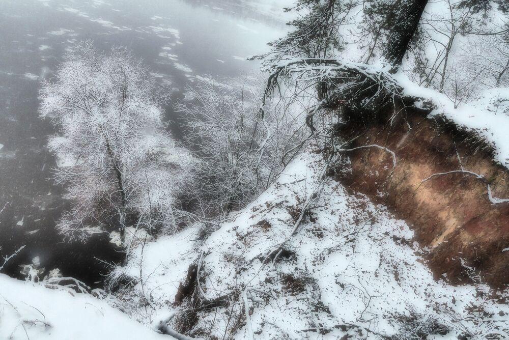 Rzeka Dniepr w okolicach białoruskiego miasta Rohaczów.