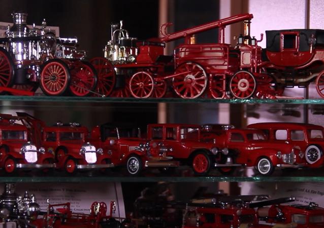 W kolekcji strażaka z Ufy Naila Ildrasowa znajduje się prawie 1000 modeli wozów strażackich