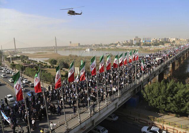 Demonstracja poparcia rządu Iranu