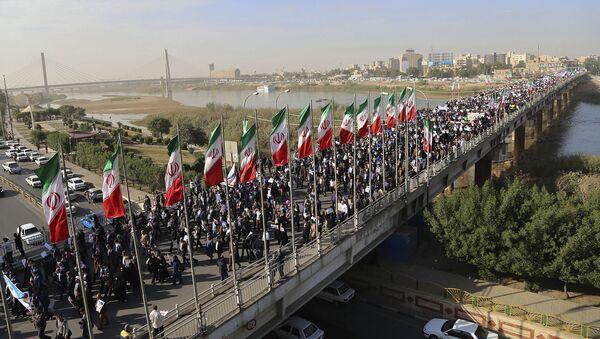 Demonstracja poparcia rządu Iranu - Sputnik Polska