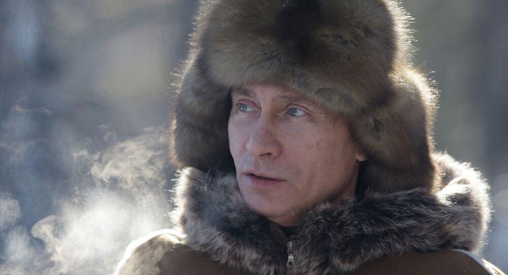 Władimir Putin zimą