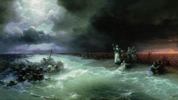 Obraz I. Ajwazowskiego Przejście Izraelczyków przez Morze Czerwone - Sputnik Polska