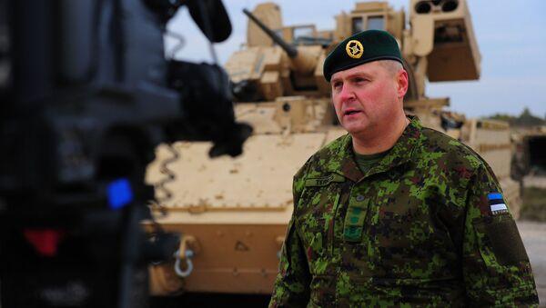 Dowódca Sił Obrony Estonii generał Riho Terras - Sputnik Polska