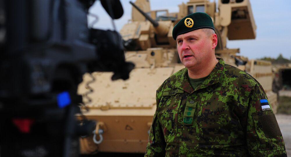 Dowódca Sił Obrony Estonii generał Riho Terras