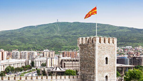Widok na Skopsko Kale – twierdzę w Skopju, w północnej Macedonii - Sputnik Polska
