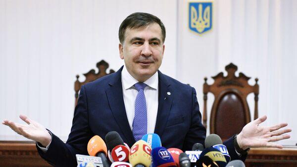 Były gubernator obwodu odesskiego Ukrainy Michaił Saakaszwili - Sputnik Polska