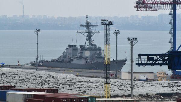 """Niszczyciel marynarki wojennej Stanów Zjednoczonych """"Carney DDG-64"""" przybył do portu Odessy - Sputnik Polska"""