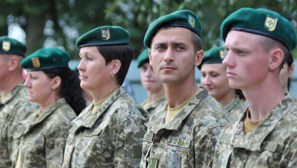 Ukraińscy pogranicznicy - Sputnik Polska