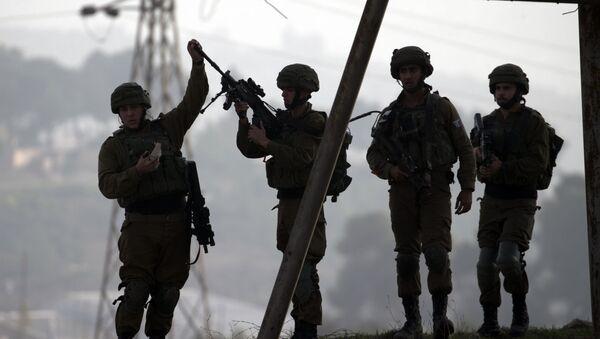 Izraelscy żołnierze na Zachodnim Brzegu rzeki Jordan w regionie Nablusa - Sputnik Polska