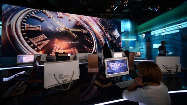 """Studio programu """"Wiesti"""" w budynku WGTRK - Sputnik Polska"""