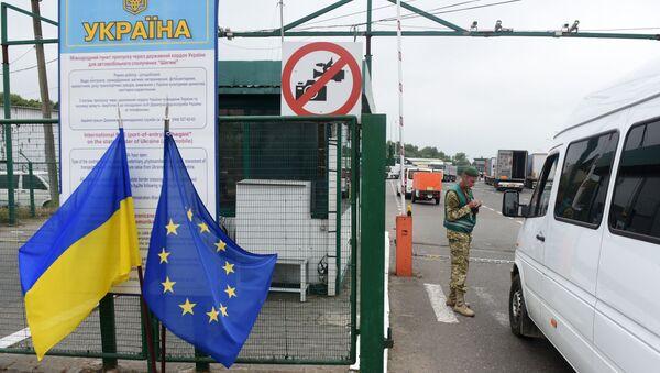 Przejście graniczne na granicy ukraińsko-polskiej Szeginie-Medyka. Zdjęcie archiwalne - Sputnik Polska