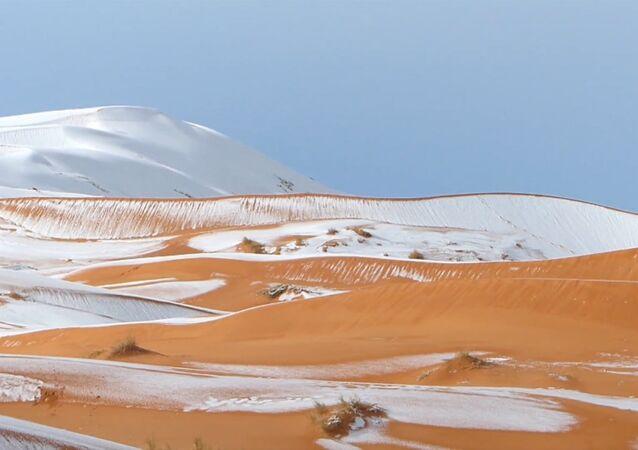 Śnieg na Sacharze