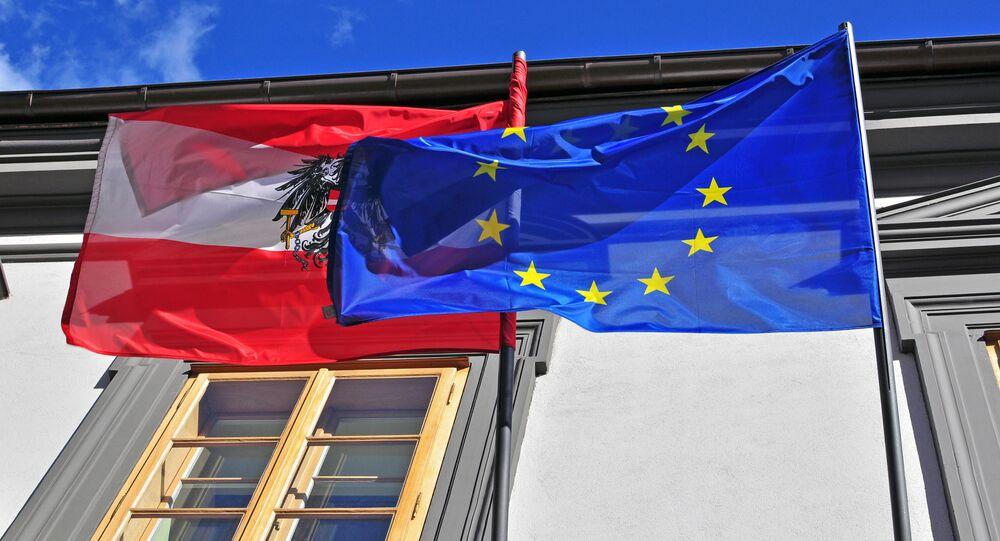 Flagi Austrii i UE