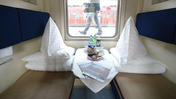 Wagon sypialny w pociągu - Sputnik Polska