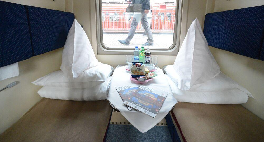 Wagon sypialny w pociągu