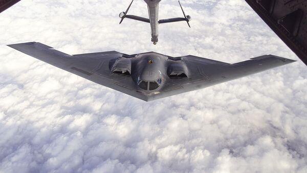 Amerykański ciężki bombowiec strategiczny Northrop B-2 Spirit - Sputnik Polska
