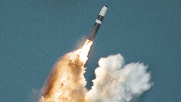 Wystrzelenie rakiety balistycznej Trident II D5. Zdjęcie archiwalne - Sputnik Polska