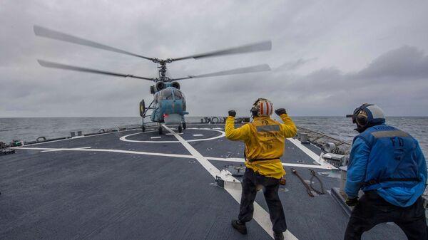 Wspólne ćwiczenia marynarki wojennej Ukrainy i USA na Morzu Czarnym - Sputnik Polska
