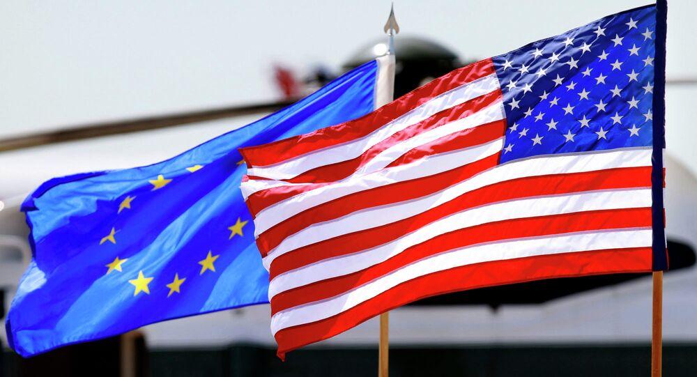 Flagi EU i USA