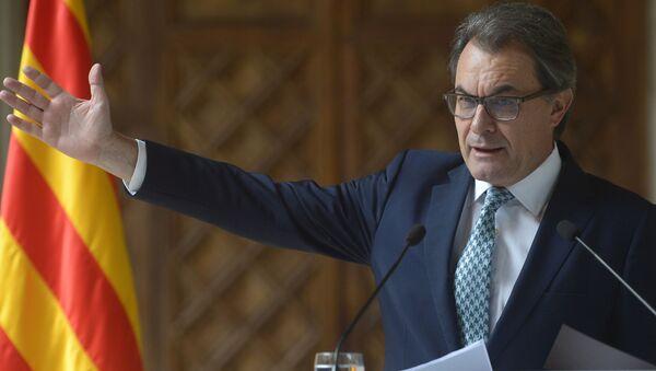 Президент Женералитета Каталонии Артур Мас-и-Гаварро выступает во Дворце правительства в Барселоне - Sputnik Polska