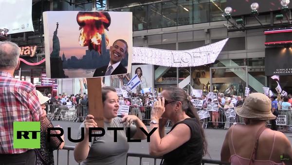 Amerykanie protestują przeciwko porozumieniu z Iranem - Sputnik Polska