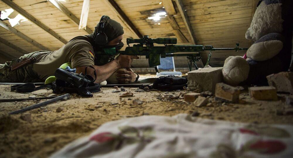 Ukraiński snajper, obwód doniecki