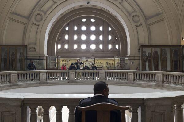Sala nowego muzeum, gdzie wystawione zostaną skarby Tutenchamona, będzie siedem razy większa niż obecna sala poświęcona temu tematowi w starym muzeum w centrum Kairu. - Sputnik Polska