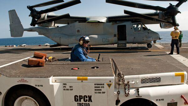 Osprey na okręcie USS Wasp - Sputnik Polska
