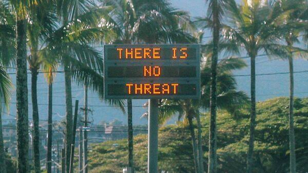 Informacja na tablicy na Hawajach - Sputnik Polska