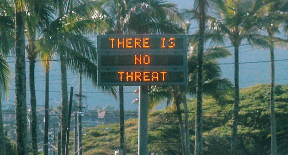 Informacja na tablicy na Hawajach